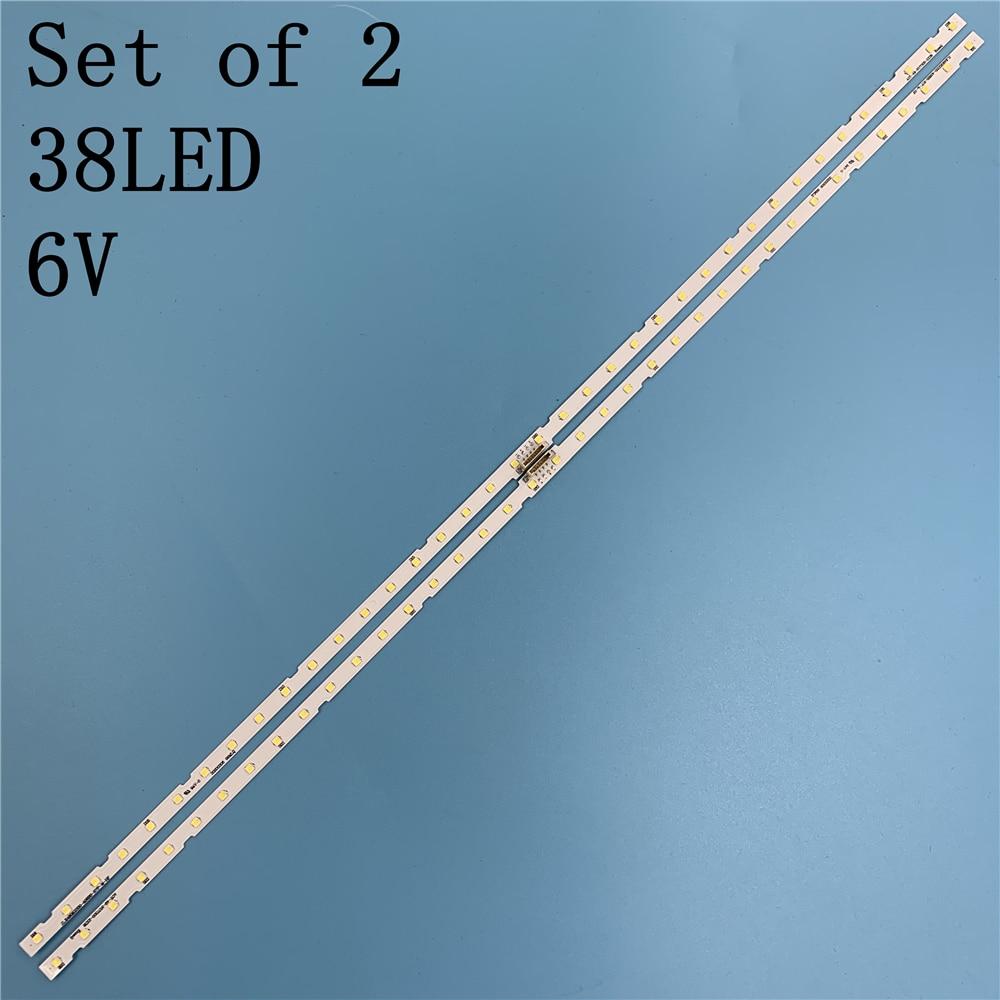 LED Strip 38leds For Samsung AOT_49_NU7300_NU7100_2X38_3030C BN61-15483A LM41-00557A UE49NU7140 UE49NU7100 UE49NU7120 UE49NU7670