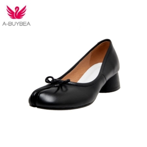 Genuine Leather women Pumps bu