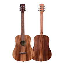 Acoustic Guitar 34 Inch Teakwood Material Guitar with Gig Bag Strap Spare Strings Capo Picks Guitars Kit for Beginners