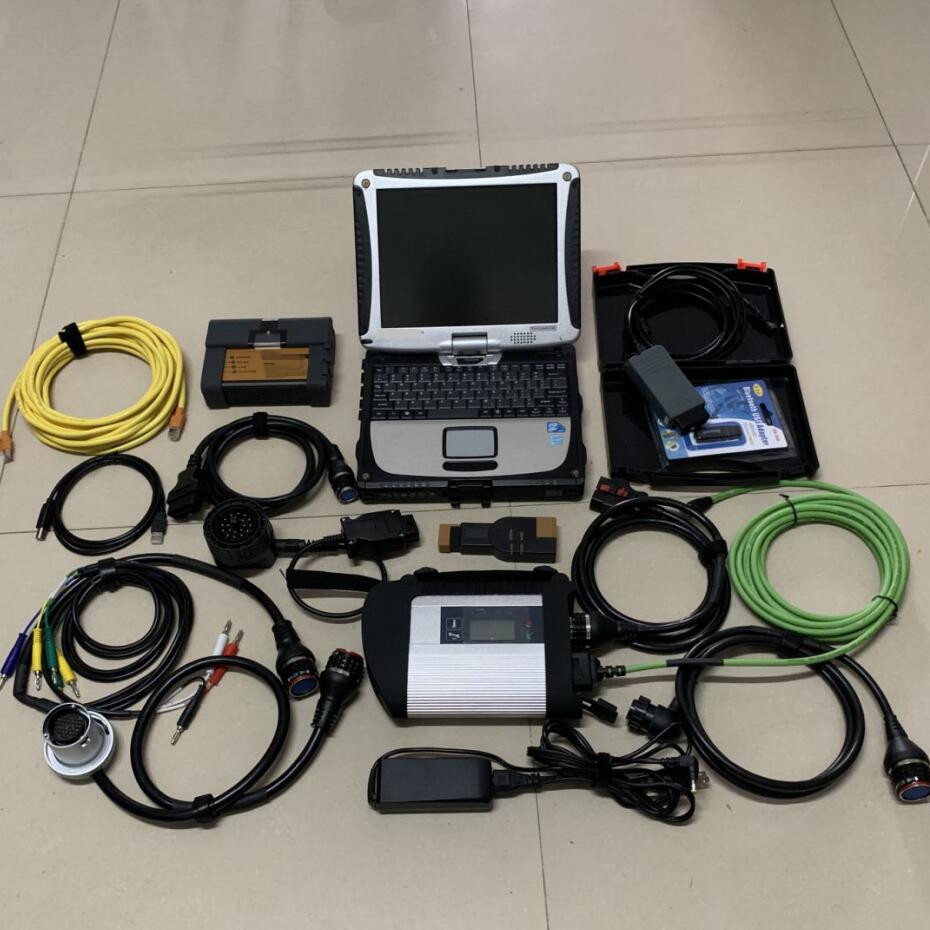 Star C4 Diagnosis Mb Sd Connect +icom For Bmw +  5054a 3in1 Hdd 2tb With Laptop Cf19 Touch 4g Pc Full Scanner Ready To Use