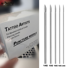 Navel-Sterile Needle-Tools Piercing Body-Jewelry Nose 5pcs/Lot 14G 16g-18g Tattoo-Needles-Lot