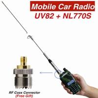 אנטנה עבור baofeng uv Baofeng UV82 מכשיר הקשר עוצמה + NL770S אנטנה עבור תחנת ציד רדיו לרכב נייד מקס 100W UV-82hp UV82 VHF Ham CB (2)