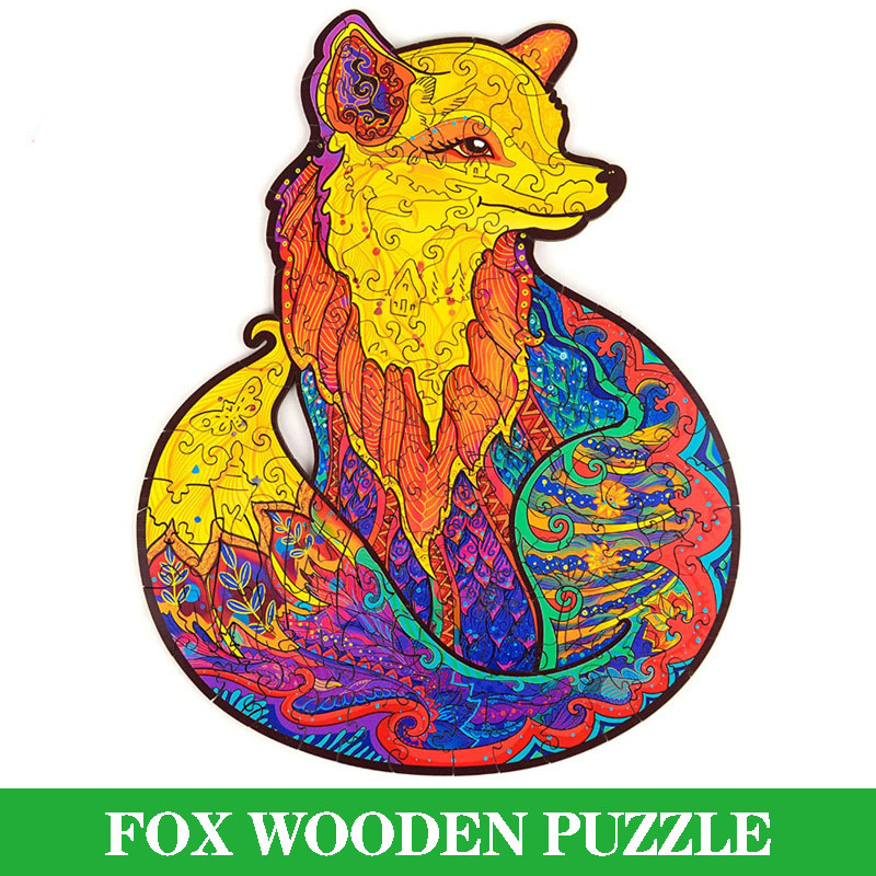 Drewniane Puzzle dla dorosłych układanka do samodzielnego złożenia każdy kawałek to Puzzle w kształcie zwierząt prezenty świąteczne dla dzieci