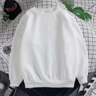 Free Cartoon Print Female Cute Pullover  Thick hoodie Warm Long Sleeve Tops Plus Size Loose Haze Blue sweatshirt women 8