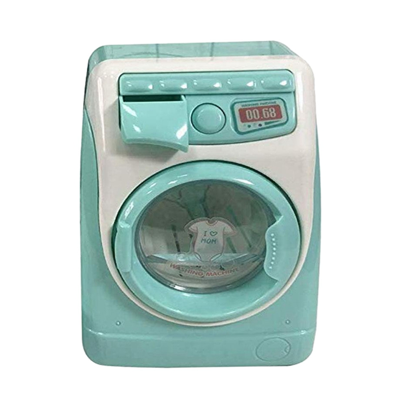 Mini Educational Simulation Washing Machine Toys Kids Play House Pretend Toy For Children'S Day Gift