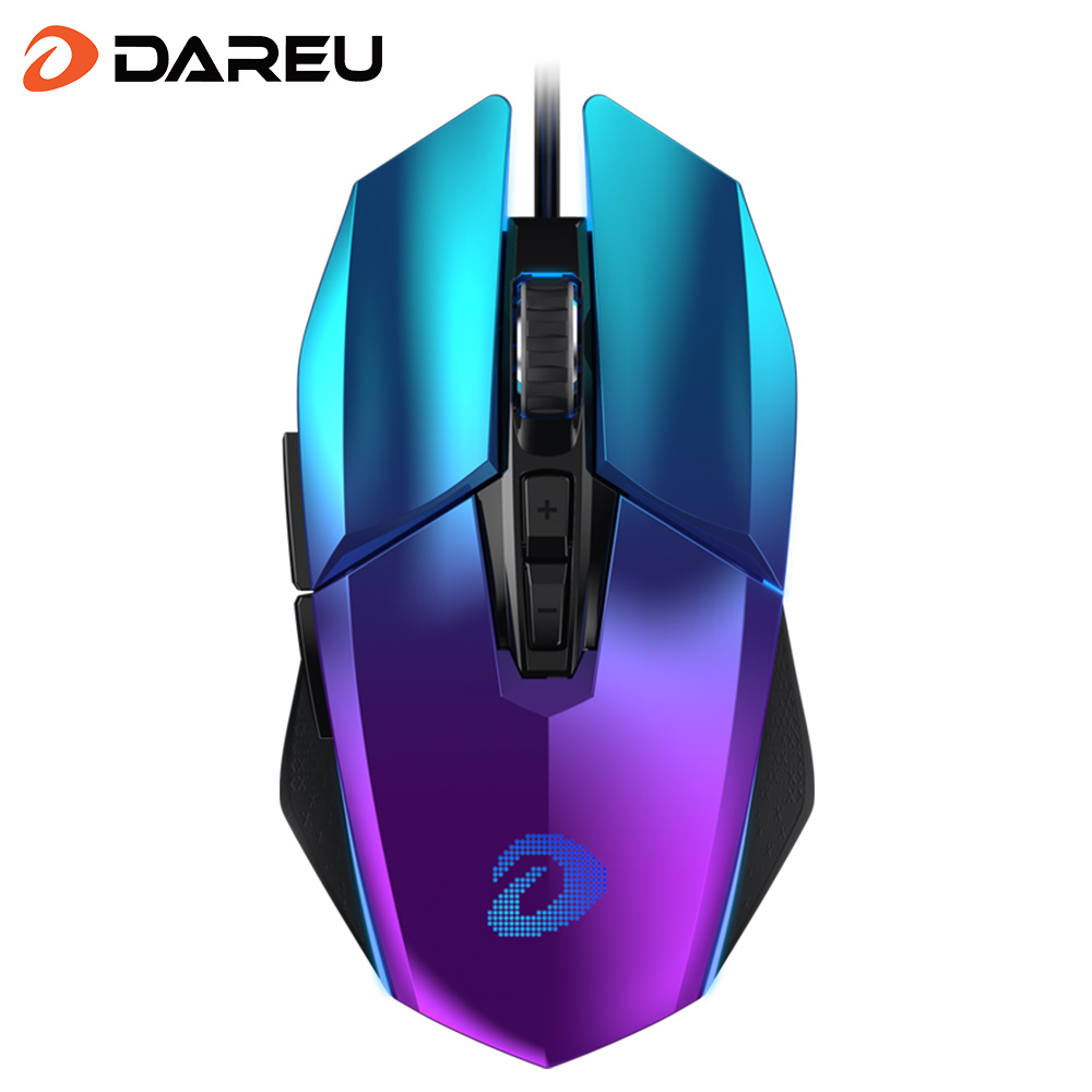 DAREU EM915 RGB Gaming Mouse PMW3336 10800 DPI 50 Million life 7 Button Mice with KBS buttons omni-directional trigger For Gamer
