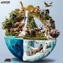 Lcozx nova chegada 5d diy pintura diamante animal mundo redondo completo diamante bordado mosaico hobbies e artesanato decoração de casa