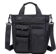 New Arrival Trendy Mens Cloth Briefcase Pluggable Headphones Shoulder Casual Bag Multi Pockets Men Work Bags Bolso Hombre DF338