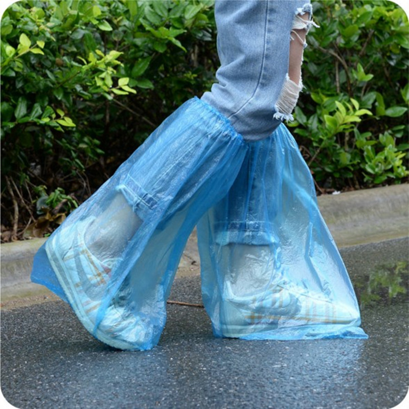 Waterproof Rain Shoe Covers For Rain Disposable Cycling Shoes Boots Cover Overshoe Rainy Motorcycle Riding Shoe Covers