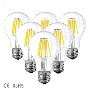 DC 12V 24V Led Lamp A19 Filament Bulb Low Voltage 6W Globe led Bulbs Daylight White 4500K Warm White 2700K E26 E27