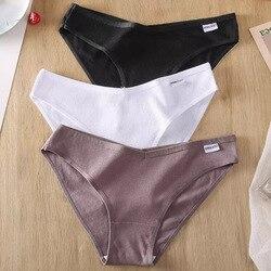 M-4XL Women Cotton Panties Sexy Underwear For Woman Briefs Female Underpants Intimates Lingerie 6 Solid Color Cotton Pantys Plus