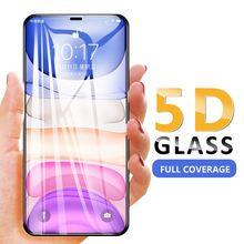 Изогнутое закаленное стекло 5d для iphone 11 pro max Защитная