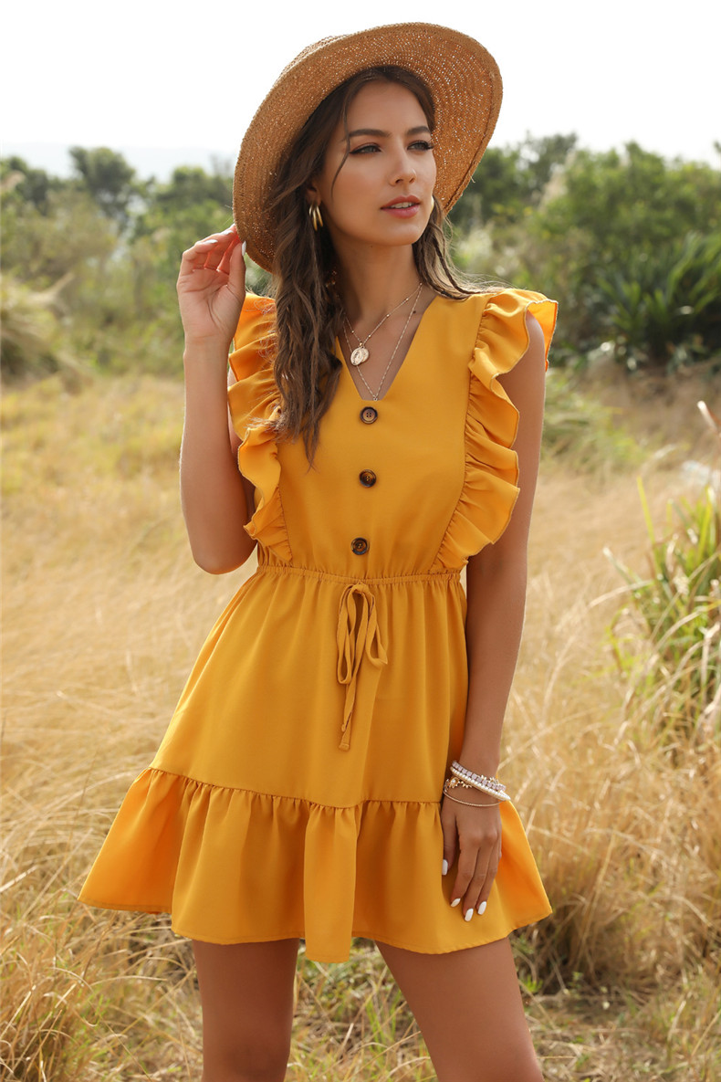 V-Neck Boho Summer Dress