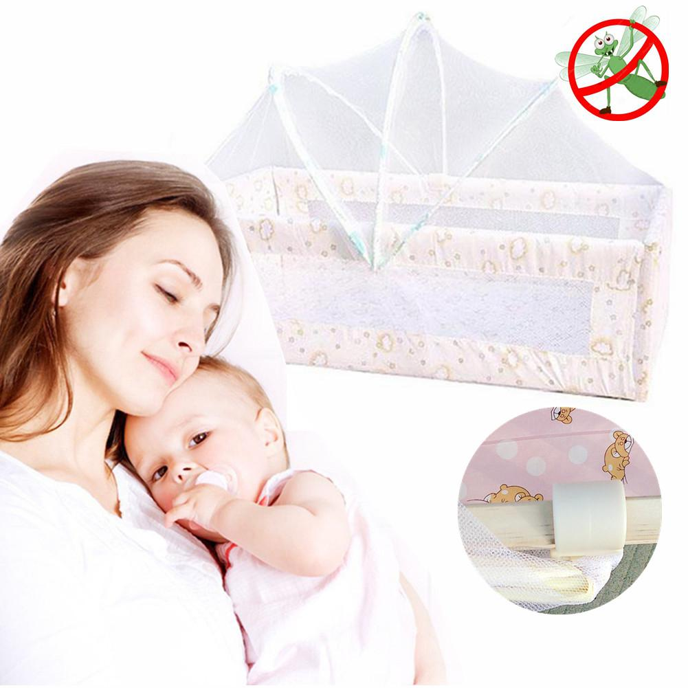 Kidlove 90*50CM Baby Cradle Bed Mesh Mosquito Net Foldable Baby Arched Mosquitoes Net Portable Crib Netting