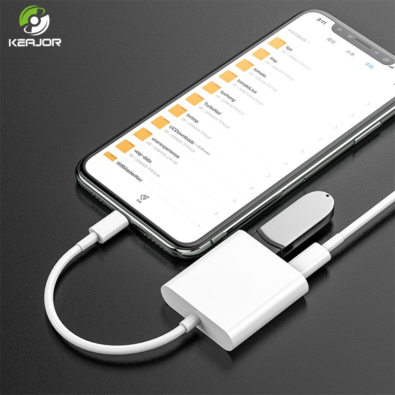 OTG Adapter For IPhone IPad Lightning To USB OTG Cable U-Disk Keyboard Converter USB Camera Adapter Lightning Cable For IOS 13