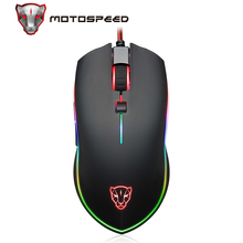Mouse da gioco professionale Motospeed V40 Mouse ottico USB cablato USB Gamer Mouse ergonomico da 3500DPI retroilluminazione a LED RGB per PC portatile