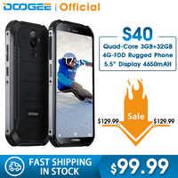 Aggiornamento 3GB + 32GB DOOGEE S40 MTK6739 Quad Core Android 9.0 4G Rete Robusto Telefono Cellulare IP68 display da 5.5 pollici 4650mAh 8.0MP NFC