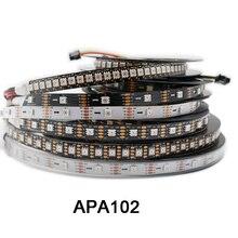 DC5V APA102 données et horloge séparément bande de pixels led intelligente; 1m/3m/5m;30/60/144 leds/pixels/m;IP30/IP65/IP67