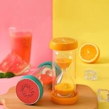 30 минут фруктовый песок таймер часы песочные часы домашний офис стол украшения ребенок анти-осень песочные часы 1