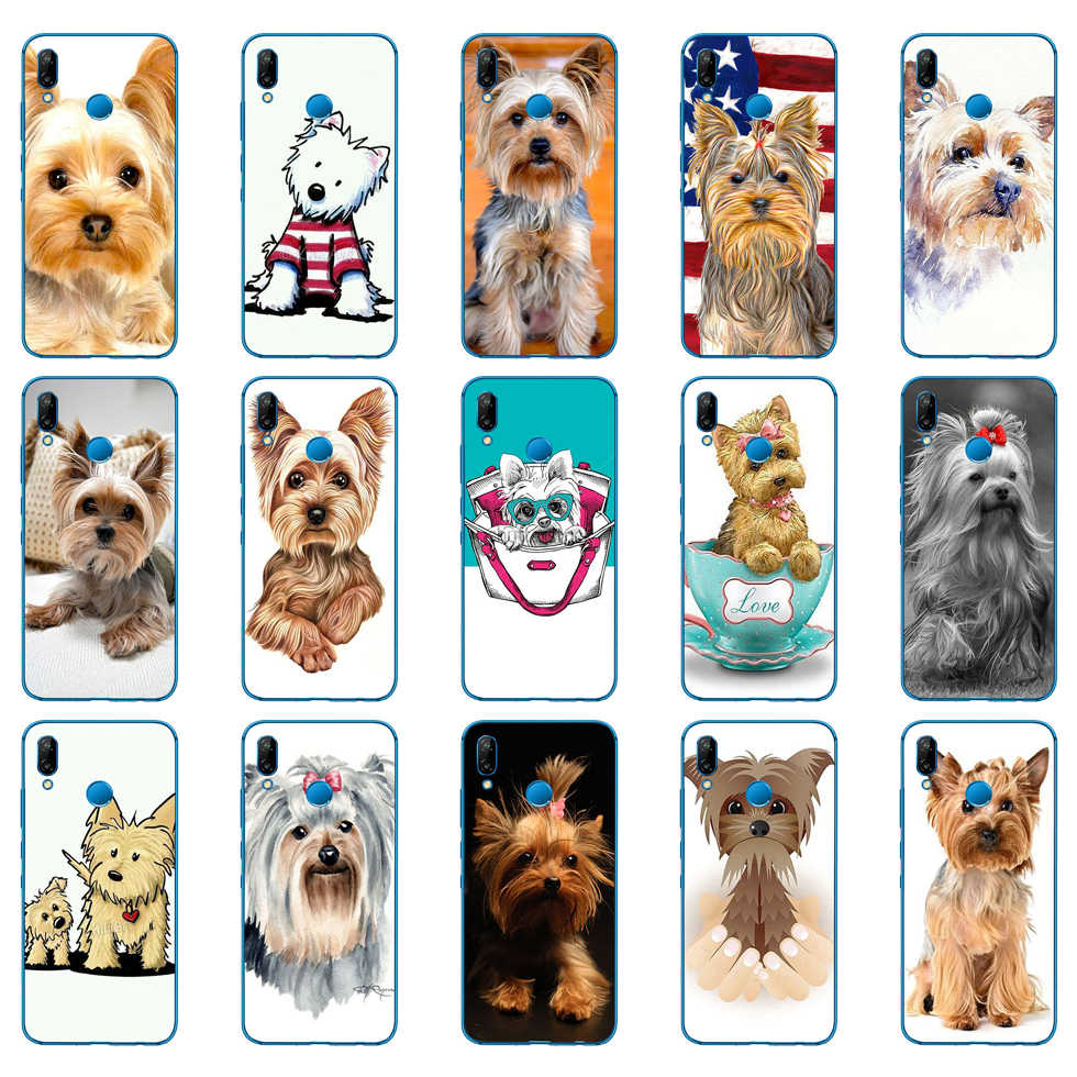 93DD yorkshire terrier hond puppy Soft Silicone Cover voor Huawei P9 P10 P20 P30 Lite mate 10 20 PRO lite p smart 2019 case