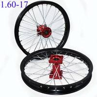 1.60 17 inch Front and Rear Rims CNC hub Aluminum Alloy Wheel Rims 1.60 X 17inch For CRF KLX KTM off road Motorcycle Kayo BSE