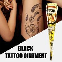100% reine Natürliche Pestizid Freies Schwarz Henna Kegel Körper Indische Tattoo Paste Farbe Wasserdichte B6Q8