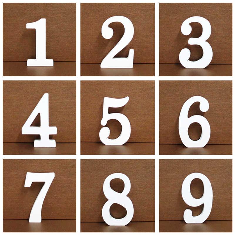 1 PC 8 Cm A-Z 0-9 Putih Kayu Huruf Alfabet Bahasa Inggris Nomor Berdiri Bebas Pribadi Nama Desain Seni kerajinan Pernikahan Rumah Dekorasi