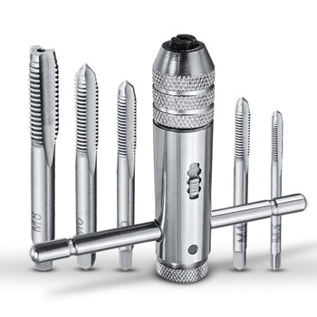 1Set Adjustable M3-M8 T-Handle Ratchet Tap Wrench Machinist Tool Reversion With 1PCS Screw - discount item  30% OFF Hand Tools