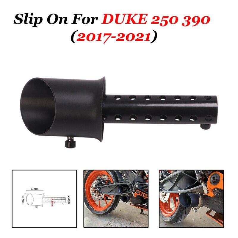 Motorcycle Exhaust Muffler Escape Link DB Killer Silence Slip On For RC DUKE 125 250 390 RC125 RC390 2017 2018 2019 2020 2021