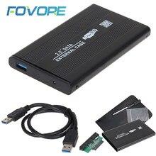Caja de aluminio para disco duro externo, USB 3,0, 2,0, 2,5 pulgadas, SATA, HD, caja Al por mayor