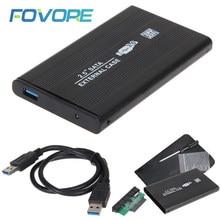 "Sıcak USB 3.0 USB 2.0 2.5 ""inç SATA harici sabit Disk mobil Disk HD alüminyum muhafaza/kutu kutusu Al Case"