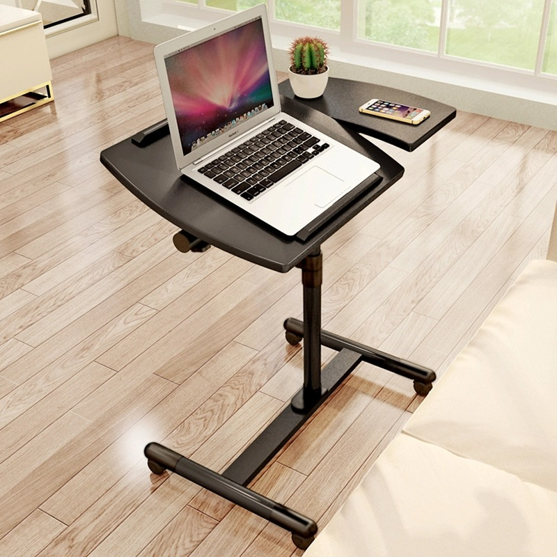 A Simple Laptop Table Household Mobile Lifting Bedside Learning Table Standing Desk  Laptop Stand  Desk Organizer