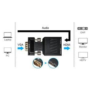 Image 4 - محول VGA ذكر إلى HDMI أنثى مع إخراج الصوت التناظرية إلى الرقمية AV محول الكابلات 1080P ل HDTV رصد العارض PC PS3