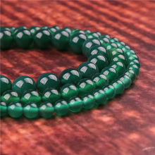 Fashion jewelry 4/6/8/10/12mm Green Agate, suitable for making jewelry DIY bracelet necklace