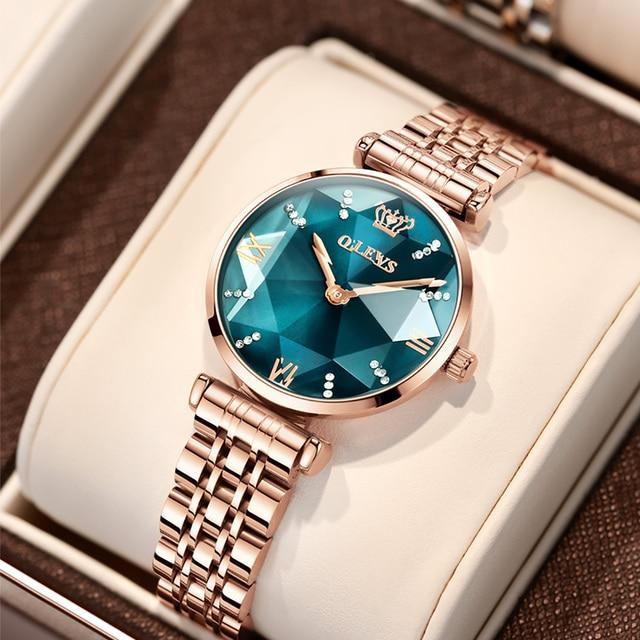 שעון אופנתי לאישה / או סט שעון וצמיד OLEVS  1