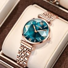 Olevs marca relógio de moda venda quente relógio feminino à prova dwaterproof água relógio de quartzo feminino