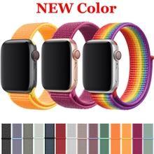 лучшая цена Strap for Apple watch band 42mm 38mm 44mm 40mm correa iwatch series 3 2 1 Sport loop Bracelet for apple watch 4 accessories