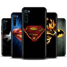Marvel Superheroes Logo Phone Case for Xiaomi Redmi Note 7 8 8T 9S Note 8 9 Pro Redmi 6A 7A 8A K20 K30 Pro Silicone Cover phone case for xiaomi redmi note 9s 7 8 9 pro max 8t 8 pro redmi 6 6a 7a 8a k20 k30 pro silicone cover superman hero logo