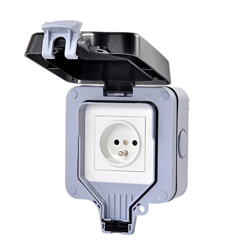 Внешняя защита ip66 с 1 слотом для настенного гнезда Пыленепроницаемая