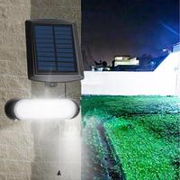 Waterproof IPX4 LED Solar Split Wall Lamp Garden Street Outdoor LIght Bulbs