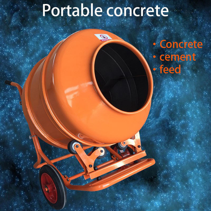 Mechanical Concrete Mixer Mortar Cement Mixing Site Feed Electric Drum Mixer