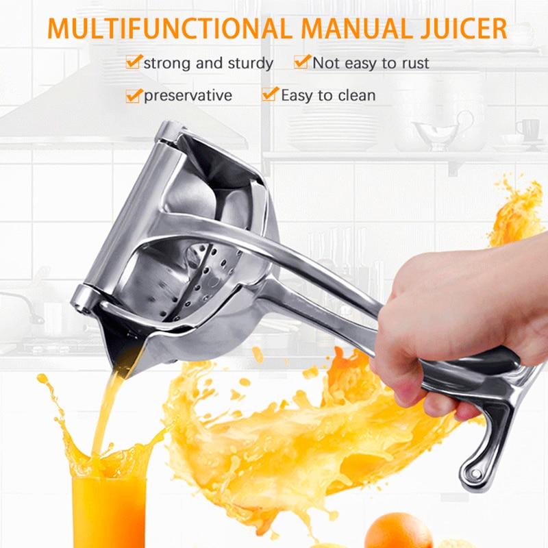Stainless Steel Manual Juicer Lemon Orange Juicer Multifunctional Household Appliances Portable Vegetable and Fruit Blender