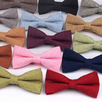 Fashion Men Bow Tie Classic Solid Bowtie For Men Adult Bow Ties For Business Wedding Butterfly Suits Cravats Bowties