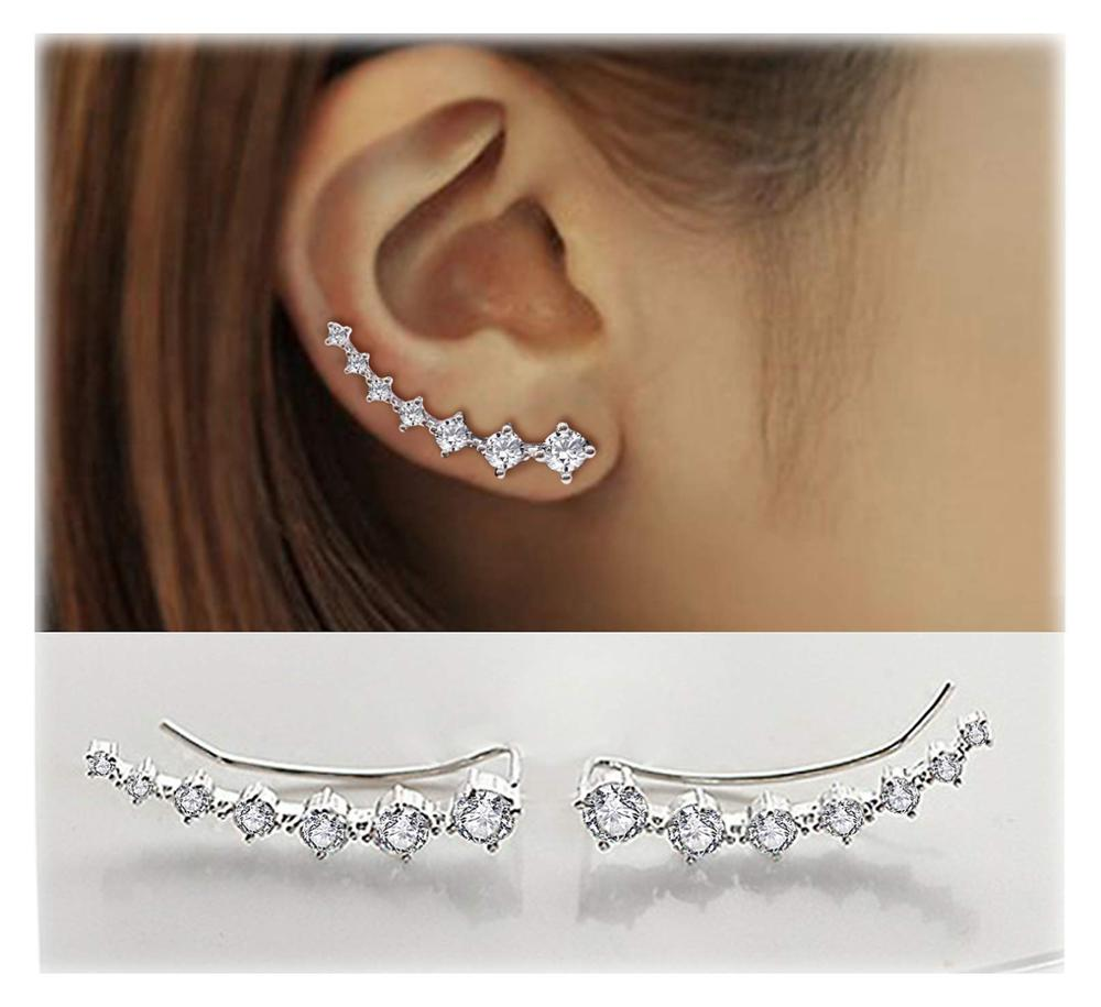 Fashion Shiny Crystal Stud Earrings Dipper Earrings For Women Girls Statement Jewelry Exquisite Gift Hot Sale Wholesale