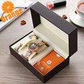 Оранжевый бренд Топ класса люкс Япония MIYOTA Кварцевые 360 ° вращающиеся лепестки женские Часы Дамские подарки нержавеющая сталь водонепрониц...
