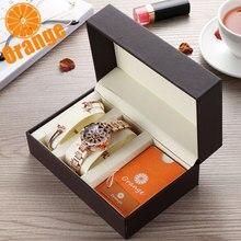 สีส้มยี่ห้อ1ชุดTop Luxury Japan MIYOTA 360 ° หมุนกลีบผู้หญิงนาฬิกาสุภาพสตรีของขวัญสแตนเลสสตีลนาฬิกากันน้ำ