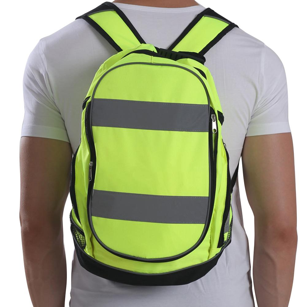 Night Reflective Luminous Backpack Outdoor Riding Cycling Camping Hiking Sports Bags For Men Women Unisex Travel Safety Rucksack