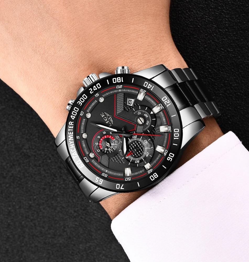 LIGE New Men Watch Business Waterproof Date Watches Fashion Multifunction