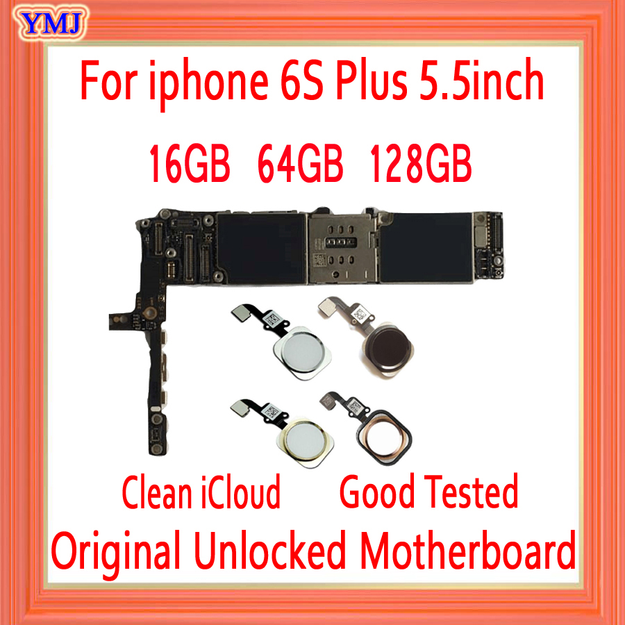 <font><b>16gb</b></font> / 64gb / 128gb for <font><b>iphone</b></font> <font><b>6s</b></font> plus <font><b>Motherboard</b></font>,Original unlocked for <font><b>iphone</b></font> <font><b>6s</b></font> Plus Mainboard without Touch ID/With Touch ID image