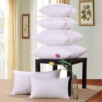 Miękkie puchowe alternatywne wypełnienie kwadratowe białe poduszki wewnętrzne naturalne puchowe alternatywne poduszki na fotel lub łóżko poduszka siedziska tanie i dobre opinie Pościel 100tc Stałe Wydrążone włókna 100 bawełna Anty-chrapanie NECK Klasa a Prostokąt